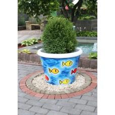 Бетонная ваза (ручная роспись)