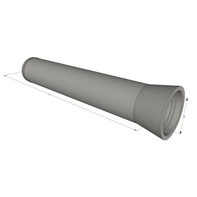 Труба безнапорная ж/б ТБ 80.50-2 виброгидропрессованная