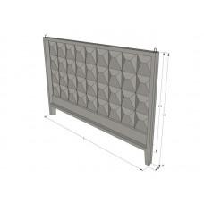 Панель ограждения (забор) ЗП 400-8 железобетонная