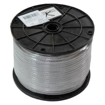 Канат оцинкованный в ПВХ 3мм (2+1), 200м/бухта, DIN 3055