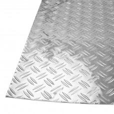 Лист рифленый алюминиевый, толщина 1 мм