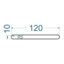 Полоса алюминиевая 120х10 мм, R5