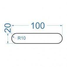 Полоса алюминиевая 100х20 мм, R10