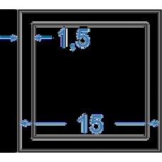 Труба алюминиевая квадратная 15x15x1,5 мм, АД31, без покрытия