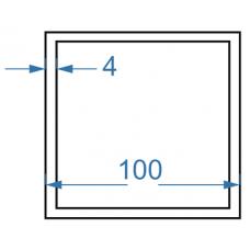 Труба алюмінієва квадратна 100x100x4 мм, АД31, без покриття