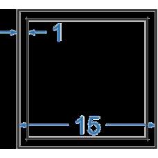Труба алюмінієва квадратна 15x15x1 мм, АД31, без покриття