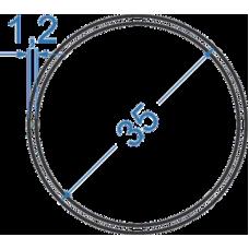 Труба алюминиевая круглая ø 35x1,2 мм, АД31