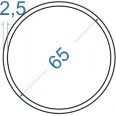 Труба алюминиевая круглая ø 65x2,5 мм, АД31, без покрытия