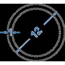 Труба алюмінієва кругла ø 12x1 мм