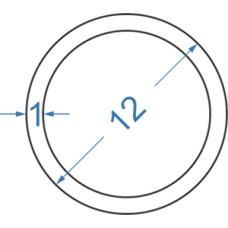 Труба алюминиевая круглая ø 12x1 мм