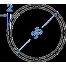 Труба алюминиевая круглая ø 35x2 мм, АД35 (6082)