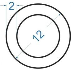 Труба алюмінієва кругла ø 12x2 мм