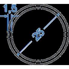 Труба алюминиевая круглая ø 25x1,5 мм, АД31