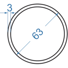 Труба алюминиевая круглая ø 63x3 мм, АД31