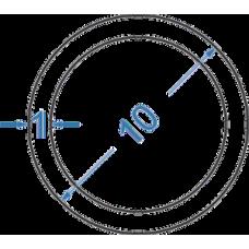 Труба алюмінієва кругла ø 10x1 мм
