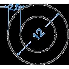 Труба алюмінієва кругла ø 12x2,5 мм