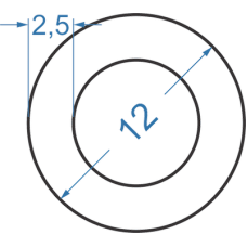 Труба алюминиевая круглая ø 12x2,5 мм
