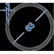 Труба алюминиевая круглая ø 63x3 мм, АД35 (6082), без покрытия