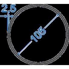 Труба алюмінієва кругла ø 105x2,5 мм, АД31, без покриття