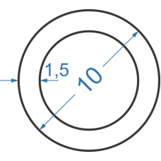 Труба алюминиевая круглая ø 10x1,5 мм